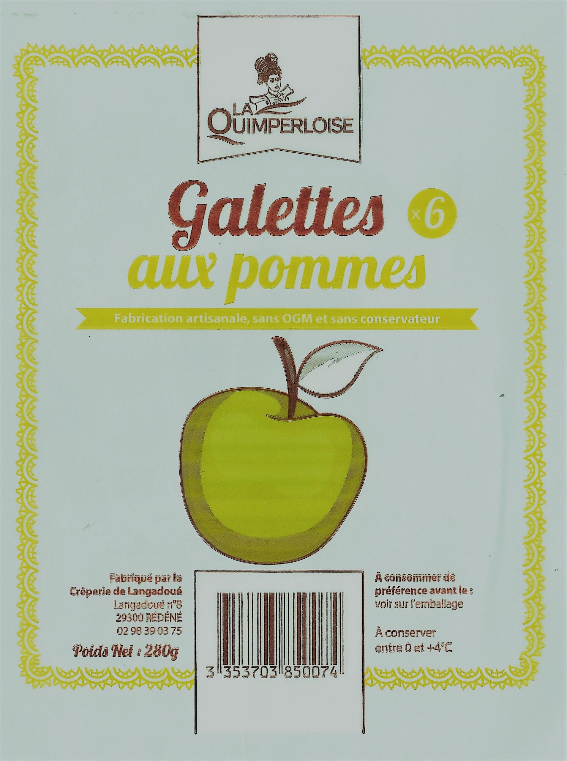 Galettes aux Pommes x 6 Image